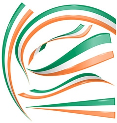 Ireland flag set vector