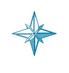 navigation star icon vector image vector image
