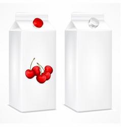 packing template for cherry vector image vector image