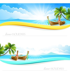 Paradise Island backgrounds vector image vector image
