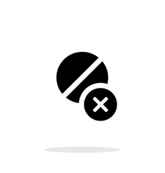 Pill icon with sign cancel on white background vector image vector image