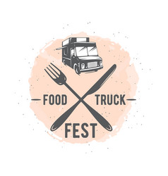 street food truck graphic vector image