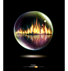 Bubbled Flames vector image vector image