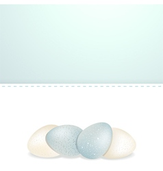 easter white and blue speckled eggs and panel vector image
