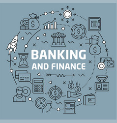 lines background banking and finance vector image