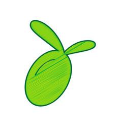 olive sign lemon scribble vector image vector image