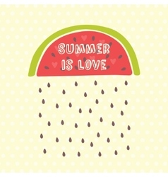 Summer card with watermelon vector image vector image