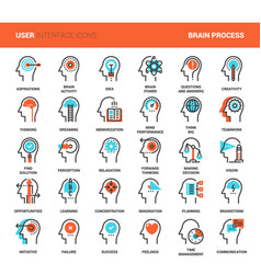 Thinking and brain process vector
