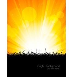 Bright orange background vector image