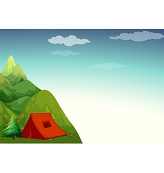 Camping site vector image vector image