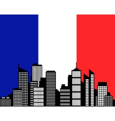 city and flag of france vector image vector image