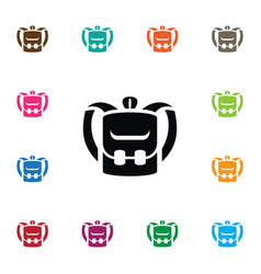 isolated luggage icon knapsack element can vector image