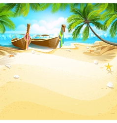 Paradise island vector image vector image
