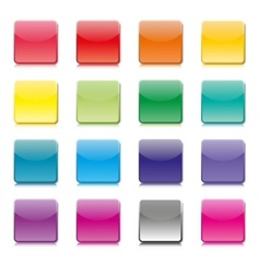 Set of templates of color icons vector image