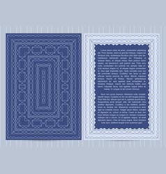 template for restaurant menu flyer greeting vector image