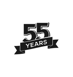 55 years anniversary logotype isolated vector image