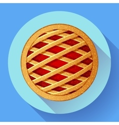 Apple Pie icon Flat designed style vector