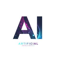 Artificial intelligence logo artificial vector