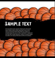 basketball grunge background vector image