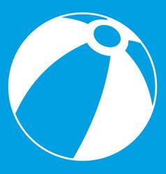 Beach ball icon white vector