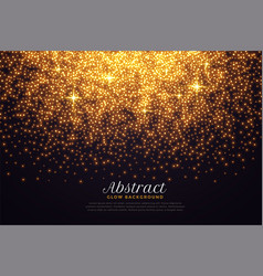 beautiful sparkles background in golden color vector image