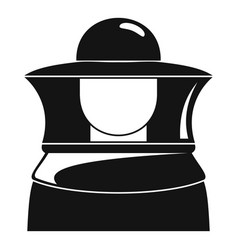 beekeeper icon simple style vector image