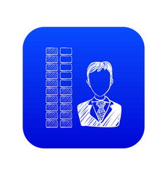 Business icon blue vector