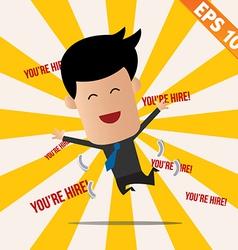 Business man got a job - - EPS10 vector