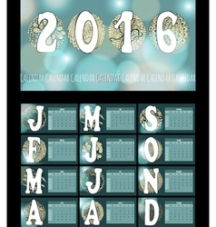 Calendar2016 doodle vector