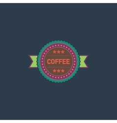 coffee label flat icon vector image