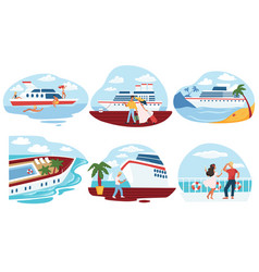 cruise and voyage relax on weekends or vacation vector image