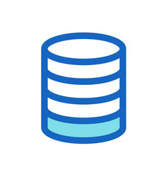 database business filled line icon blue color vector image