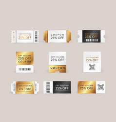 Discount coupon promo code gift voucher and vector