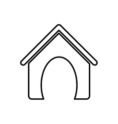 dog house pet accesory vector image vector image