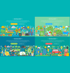 ecology green technology recycle and save the vector image