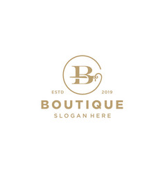 Elegant letter b logo design vector