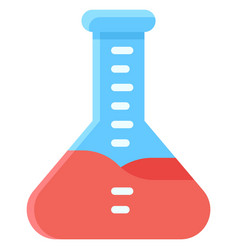 Erlenmeyer flask icon vaccine development related vector