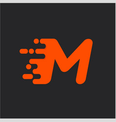 fast speed m logo vector image