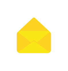 flat design style concept of open envelope vector image