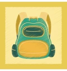 Flat shading style icon school fashionable bag vector