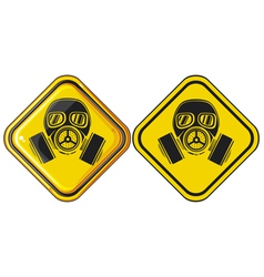 Gas mask hazardous sign vector