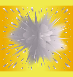 Gold and silver blast explosive background vector