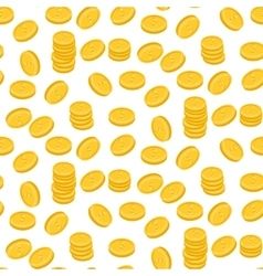 Gold dollar coin falling seamless pattern vector