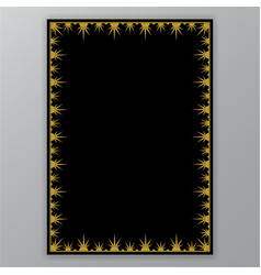 golden border on black page template vector image