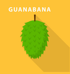 guanabana icon flat style vector image