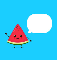 happy smilling cute watermelon vector image