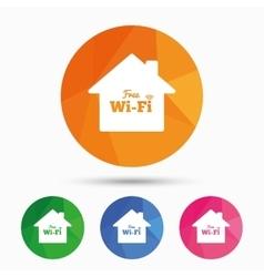 Home wifi sign Wifi symbol Wireless Network vector