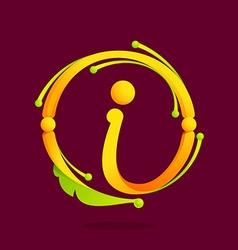 I letter monogram design elements vector