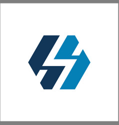 initials letter hh logo vector image
