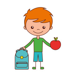 kid school cartoon vector image